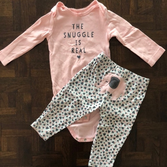 5919444bc Carter's Matching Sets | Carters The Snuggle Is Real Outfit Nwot ...